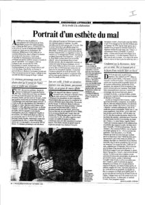 thumbnail of Portrait d'un esthète du mal – Jean-Claude Lebrun
