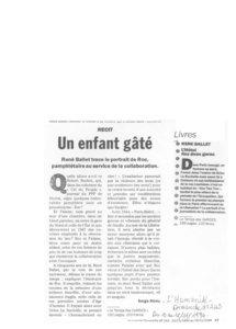 thumbnail of Un enfant gâté – Serge Rémy