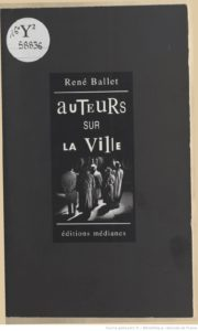 Auteurs sur la ville (Editions Médianes, 1992)